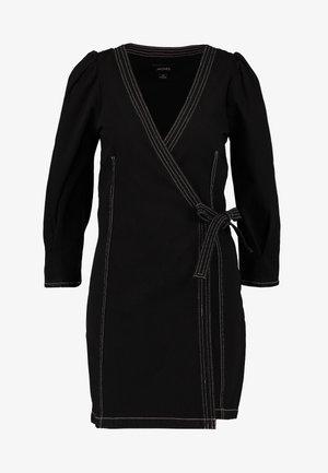 AYLA DRESS - Denim dress - black