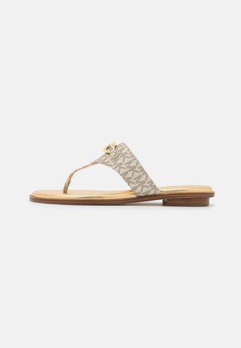 TILLY THONG - T-bar sandals - pale gold