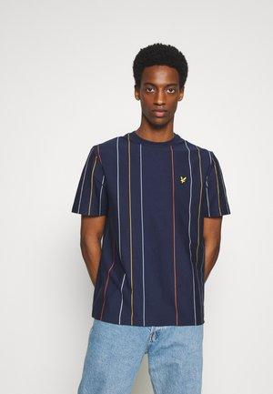 VERTICAL STRIPE - T-Shirt print - navy