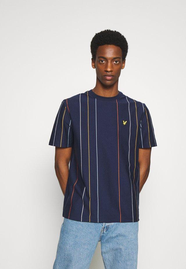 VERTICAL STRIPE - T-shirt imprimé - navy