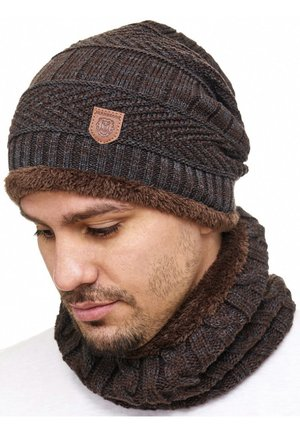 SET - Scarf - dark brown
