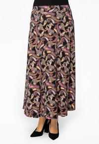 Yoek - Maxi skirt - black - 0