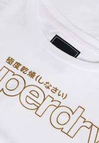 Superdry - SWISS LOGO OUTLINE BOXY TEE - Print T-shirt - optic