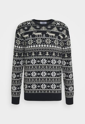 UGLY CHRISTMAS - Jumper - navy