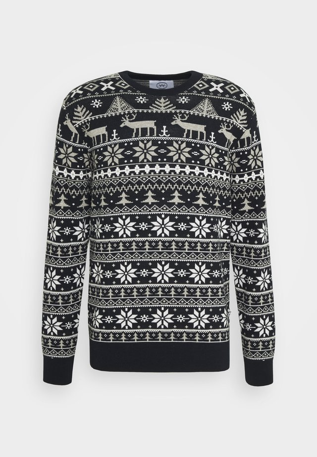 UGLY CHRISTMAS - Pullover - navy