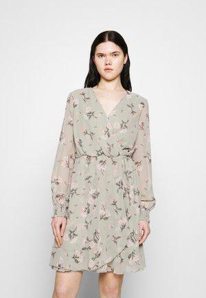 VMZALLIE WRAP DRESS - Day dress - desert sage/zallie