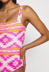 aerie - ONE PIECE CHEEKY TIEPRINTED - Swimsuit - bright pink - 5