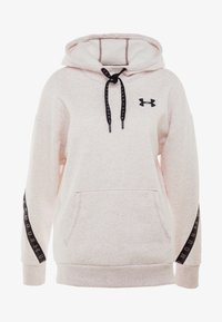 Under Armour - FLEECE HOODIE TAPED WM - Jersey con capucha - hushed pink medium heather/black - 5