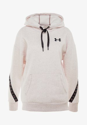 FLEECE HOODIE TAPED WM - Hoodie - hushed pink medium heather/black