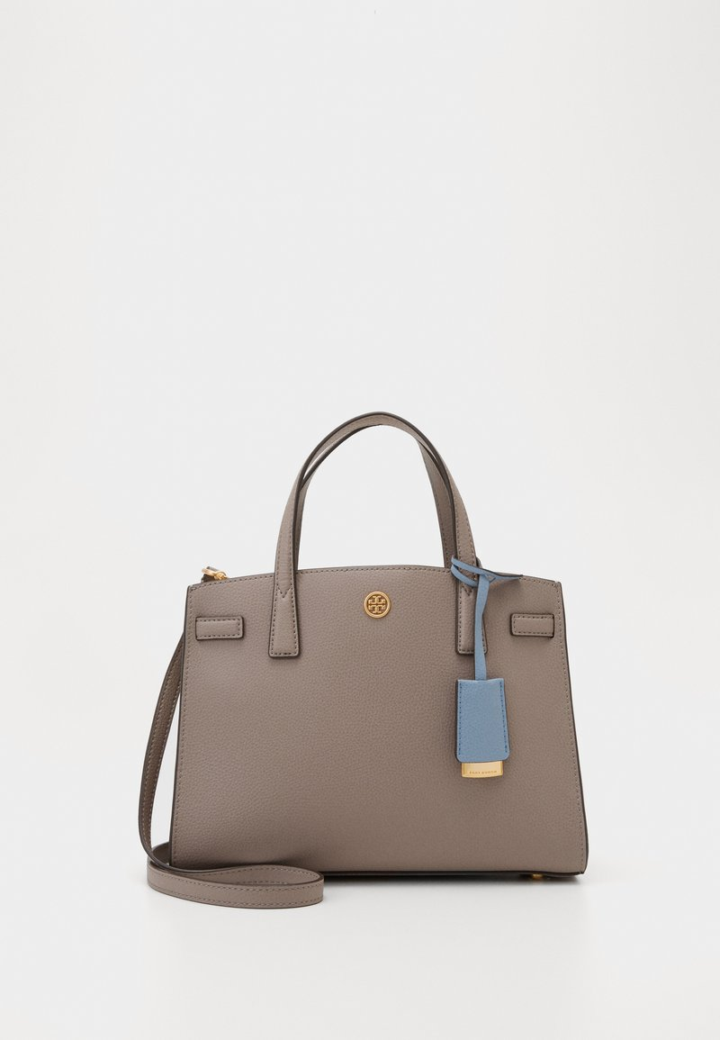 Tory Burch - WALKER TRIPLE COMPARTMENT SATCHEL - Handbag - gray heron