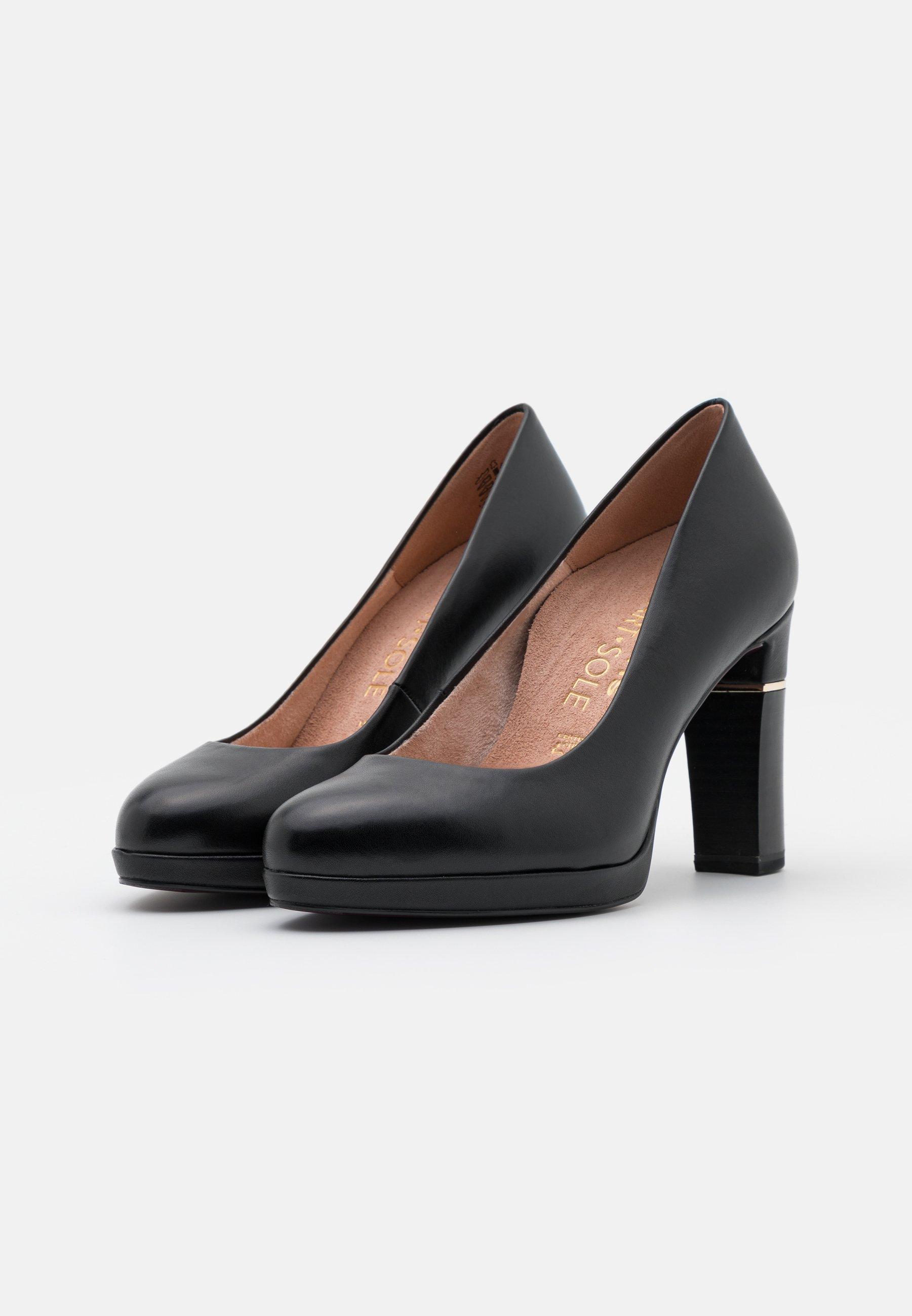 Tamaris Heart & Sole COURT SHOE High Heel Pumps black/schwarz