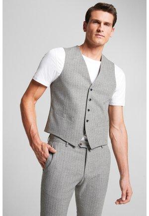 Suit waistcoat - hellgrau