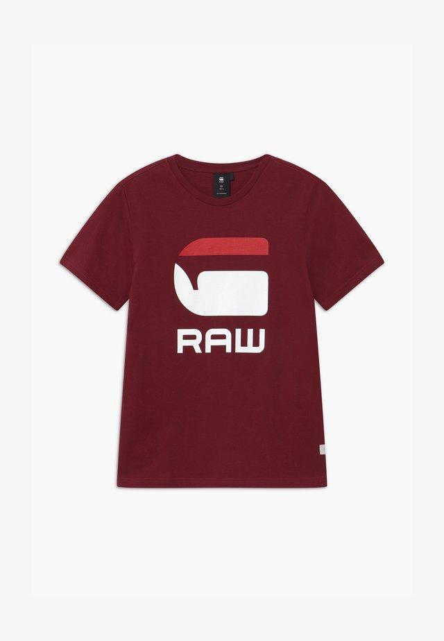 TEE - Print T-shirt - port red