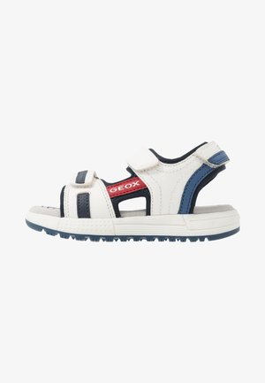 ALBEN BOY - Walking sandals - white/navy