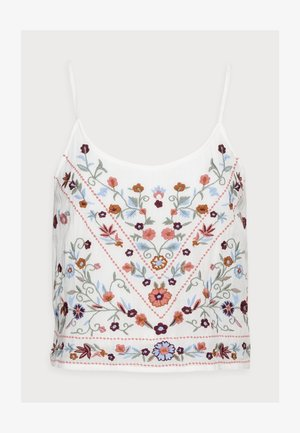 YASCHELLA SINGLET PETITE - Top - star white/embroidery