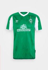 WERDER BREMEN HOME - Klubové oblečení - golf green/brilliant white