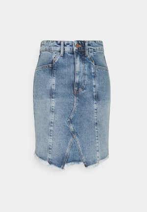 Mini skirt - light blue denim