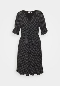 TIE WAIST - Day dress - black