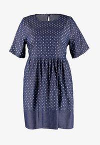 CAPSULE by Simply Be - SPOT LIGHTWEIGHT DRESS - Robe d'été - indigo - 5
