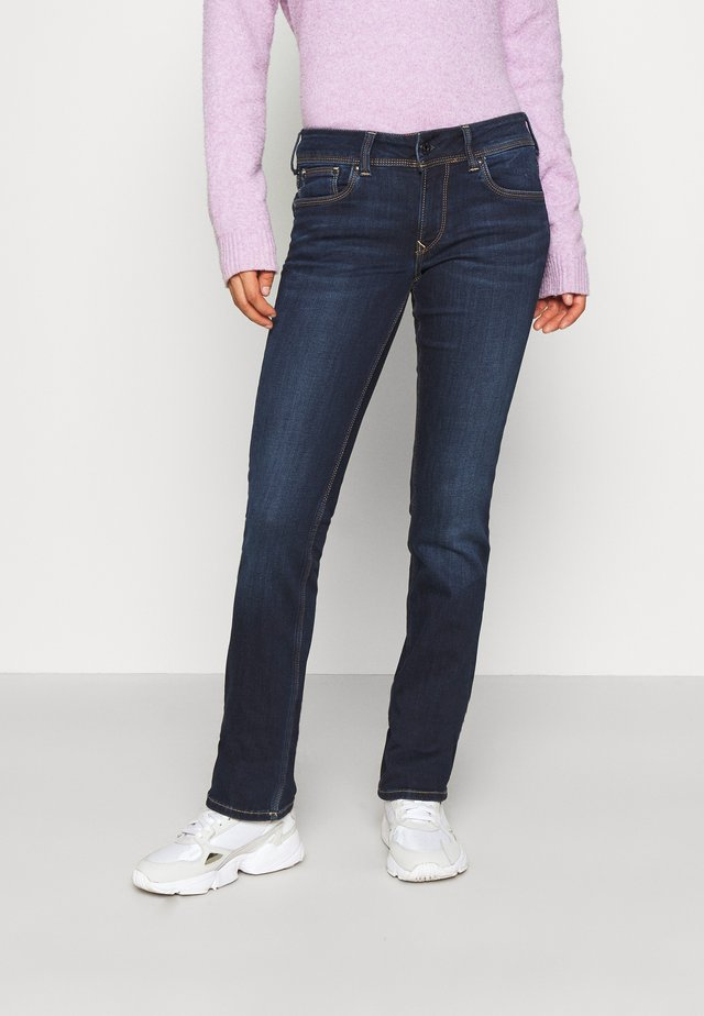 HOLLY - Jean droit - dark-blue denim