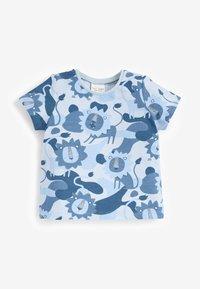 Next - 3 PACK - Print T-shirt - blue - 2