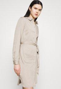 Vila - VIBISTA BELT DRESS - Denim dress - simply taupe - 3