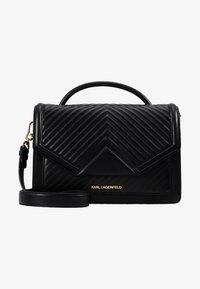 KARL LAGERFELD - KLASSIK QUILTED SHOULDER BAG - Handbag - black - 5