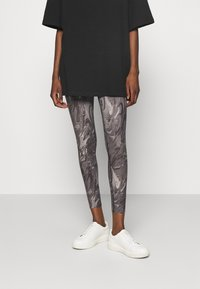 Abercrombie & Fitch - WELLNESS - Leggings - Trousers - grey marble wash - 0