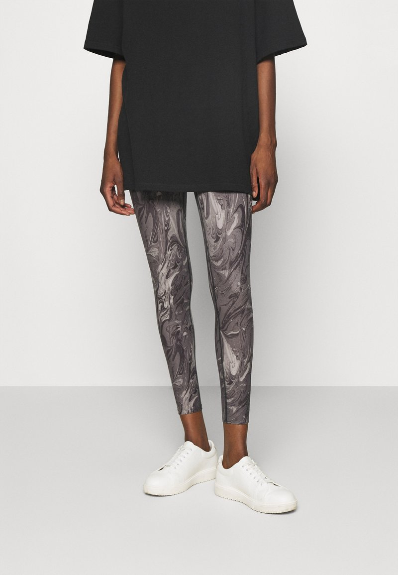 Abercrombie & Fitch - WELLNESS - Leggings - Trousers - grey marble wash