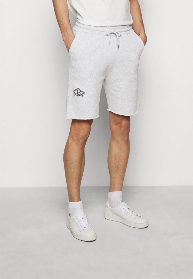 Shorts - grey melange/black