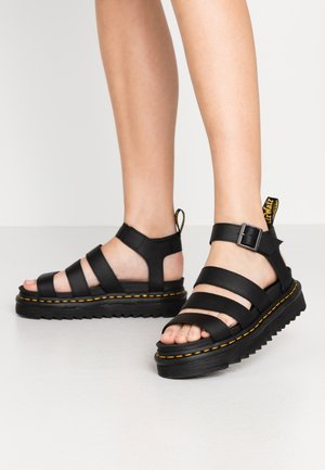 BLAIRE - Platform sandals - black
