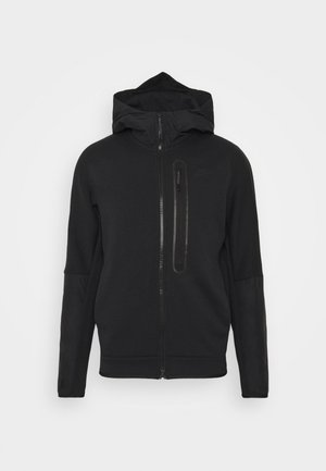 HOODE MIX - Zip-up hoodie - black