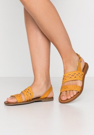 WOVEN - Sandals - yellow