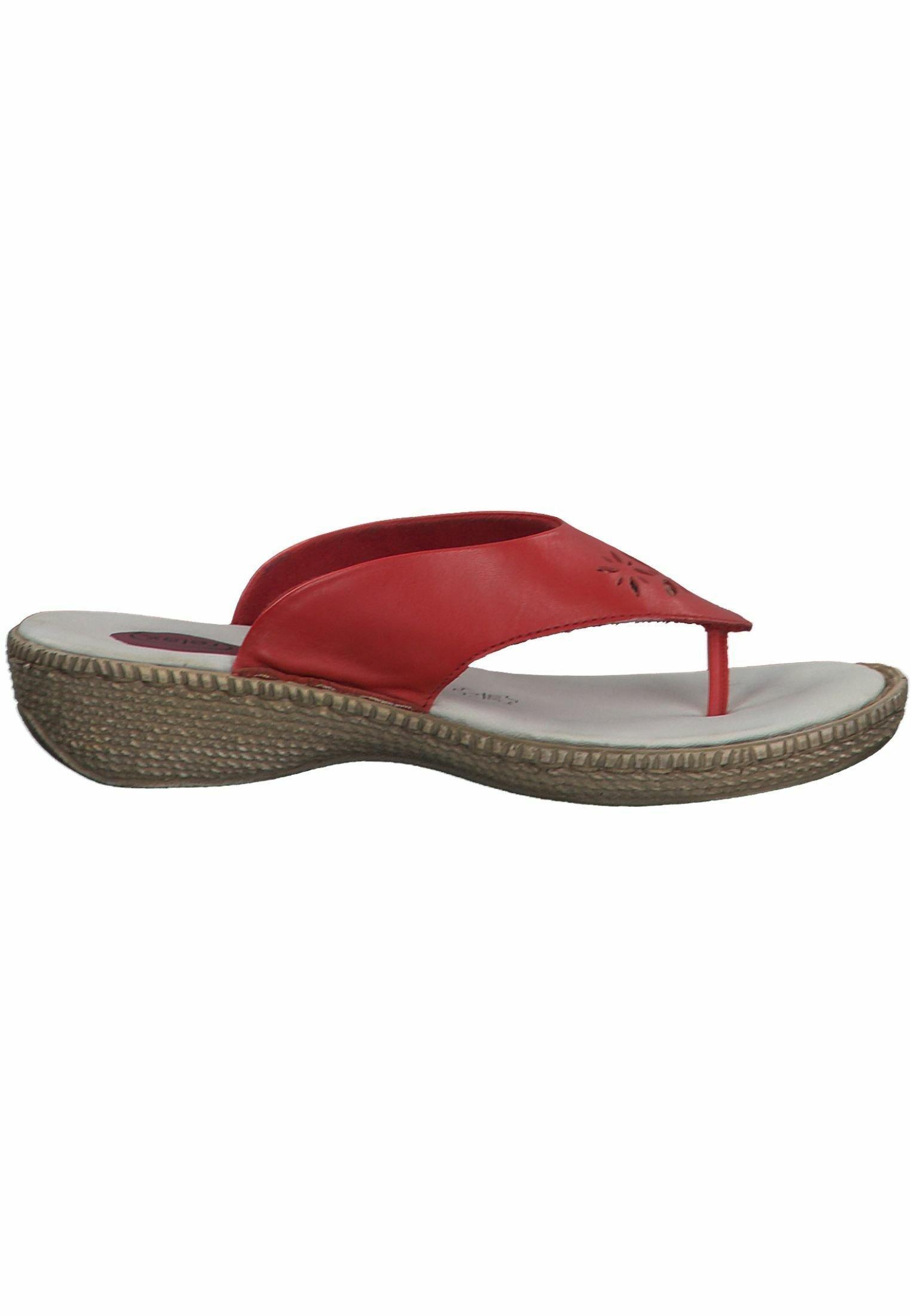 Scarpe da donna Jana Infradito red
