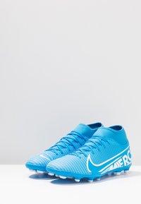 Nike Performance - MERCURIAL 7 CLUB FG/MG - Moulded stud football boots - blue hero/white/obsidian - 2