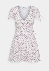Hollister Co. - DRESS - Jerseykjole - white - 4
