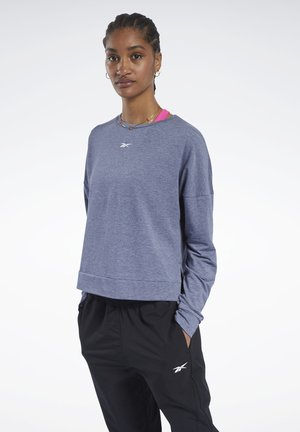 ACTIVCHILL+COTTON LONG-SLEEVE TOP - Sweatshirt - blue