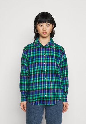 EVERYDAY - Button-down blouse - blue/green