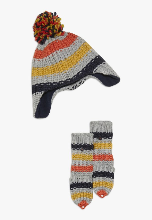 KIDS CHUNKY STRIPE HAT FLIPMITT SET - Bonnet - multi