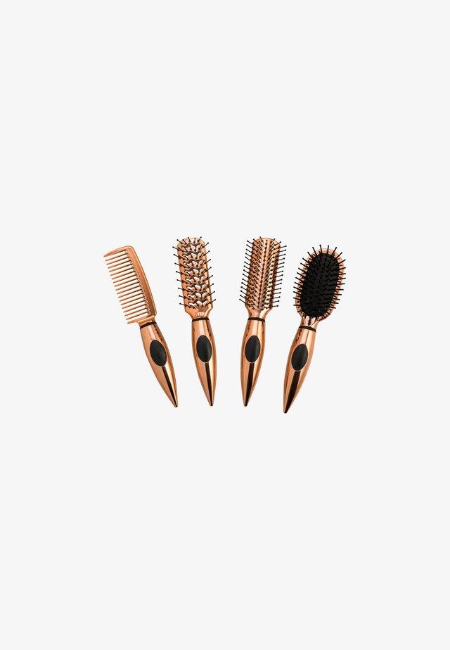 ESSENTIAL TRAVEL MINI HAIR BRUSH SET - Haar-Styling-Accessoires - silver