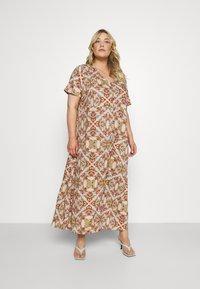 ONLY Carmakoma - CARDES LIFE DRESS - Maxi dress - oatmeal - 0