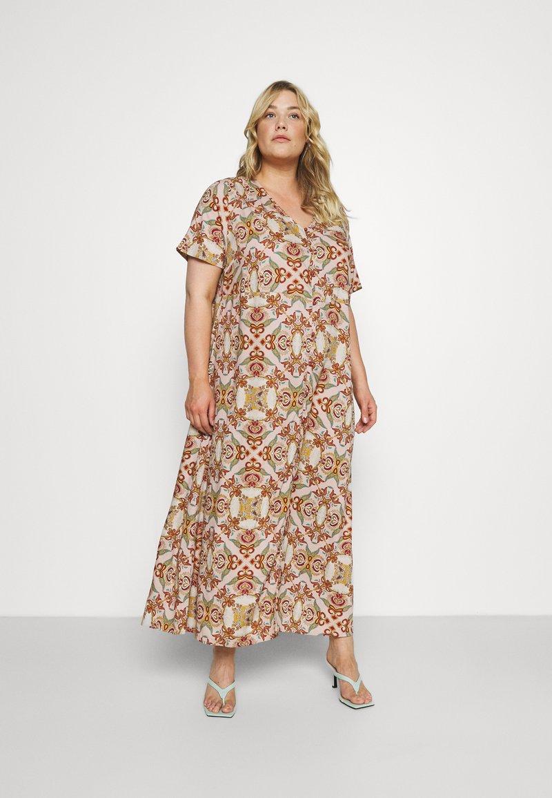 ONLY Carmakoma - CARDES LIFE DRESS - Maxi dress - oatmeal