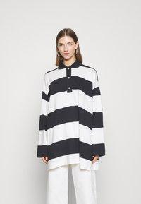 Weekday - KALANI - Long sleeved top - off black/white - 0