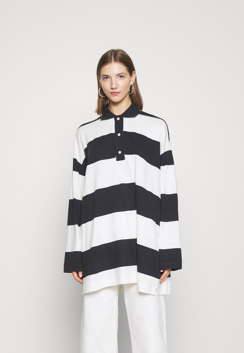 Weekday - KALANI - Long sleeved top - off black/white