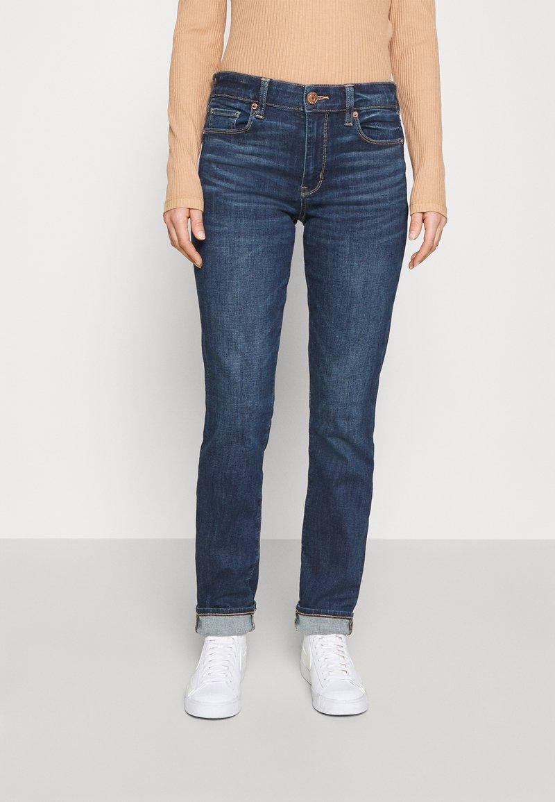 American Eagle - HI RISE - Jeans Skinny Fit - deeply cobalt