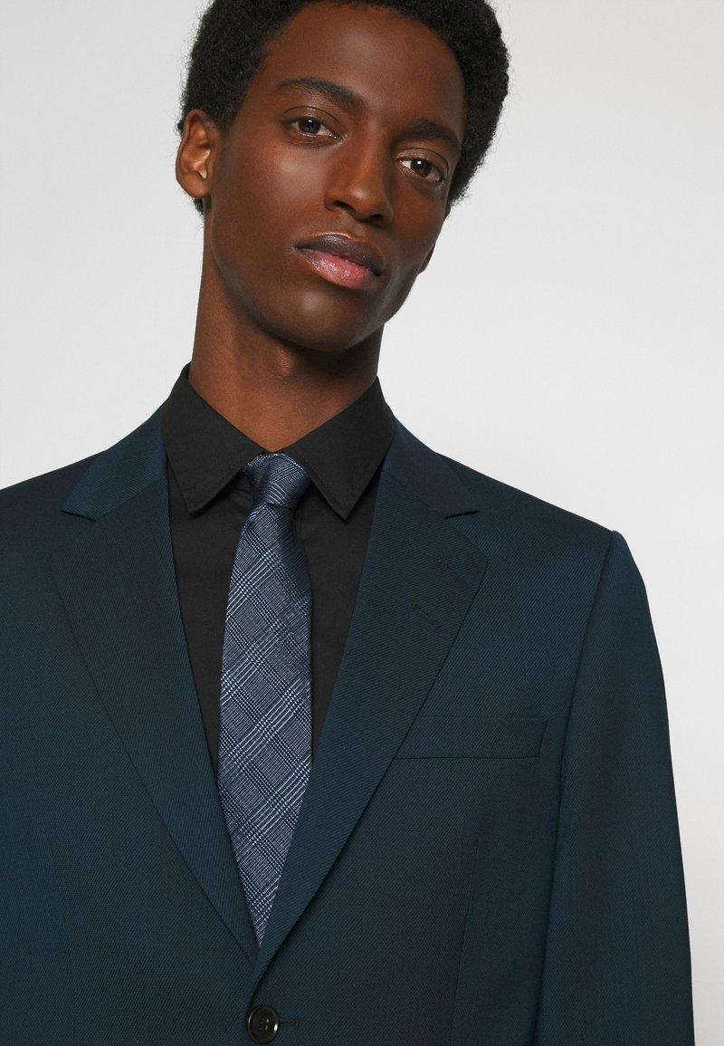 Calvin Klein - HABERDASHER PLAID TIE - Tie - light blue