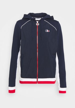 OLYMP  - Zip-up hoodie - navy blue/white/red