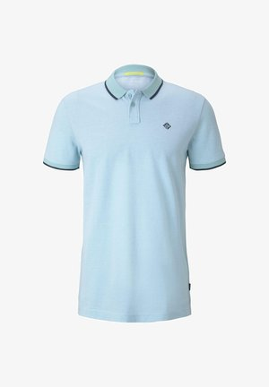 Polo shirt - soft sky blue melange