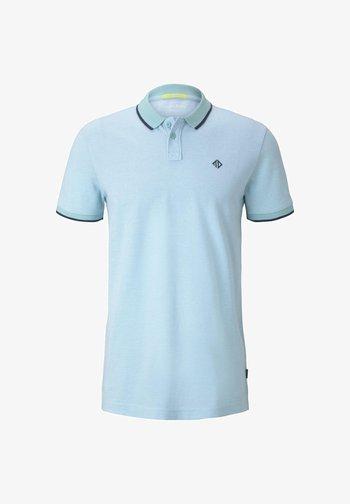 Polo shirt - soft sky blue melange