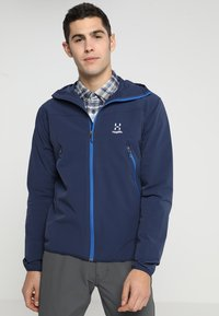 Haglöfs - NATRIX HOOD MEN - Soft shell jacket - tarn blue/storm blue - 0